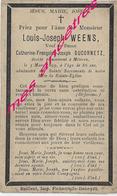 En 1899-Meteren (59) Louis WEENS Ep Catherine DUCORNETZ 86 Ans - Décès