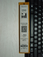 25 Bandes Id  Ref : 31,5 Fond Noir Hawid - Bandes Cristal