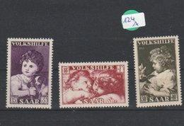 Saarland     Postfrisch **       MiNr. 344-346 - Deutschland