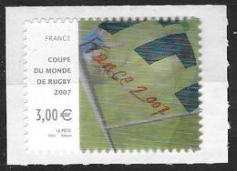 France 2007 N° 4080  Neuf Coupe Du Monde De Rugby à La Faciale - France