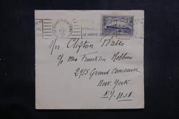 FRANCE - Oblitération Du Voyage Inaugural Du Paquebot Normandie Sur Enveloppe En 1935 Pour Les U.S.A. - L 40939 - Postmark Collection (Covers)
