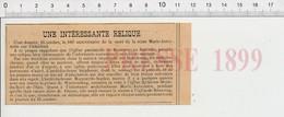 Presse 1899 Histoire Anniversaire De La Mort De Marie-Antoinette Eglise De Rennweg Autriche ReliqueRobe De Mariage  226Z - Non Classificati