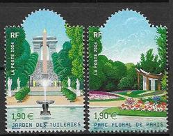 France 2004 N° 3673/3674 Neufs Jardins Sous Faciale - France