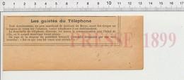 Presse 1899 Humour Veaux Abattoir Hotel De Ville De Berne (Suisse)  226Z - Non Classificati