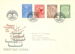 Norway 1972; FDC Michel 639-642, 1100th Anniversary Of The Foundation Of The Nation. - FDC