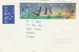 Christmas Island 1993 Birds Postally Used Cover To Bulgaria - 1990-99 Elizabeth II