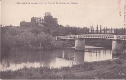 CPA - ENV DE BIARRITZ  -  Le Pont Et Le Château De BIDACHE - Biarritz