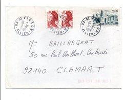 AFFRANCHISSEMENT COMPOSE SUR LETTRE DE SAINT VICTOR ALLIER 1986 - Poststempel (Briefe)