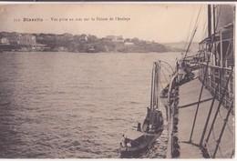 CPA - 152. BIARRITZ  - VUE PRISE EN MER SUR LA POINTE DE L ATALAYE - Biarritz
