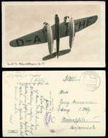 WW II Flugzeug Karte : Militär Luftwaffe ,Heinkel See Mehrzweckflugzeug He 115, Gebraucht Fassberg - Marineschule Wese - Lettres & Documents