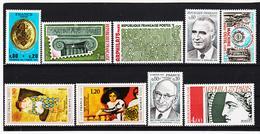 POST332 FRANKREICH - LOT 1975 Michl 1911/19 ** Postfrisch SIEHE ABBILDUNG - Ungebraucht
