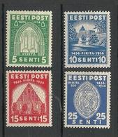 Estland Estonia 1936 Michel 120 - 123 * - Estland