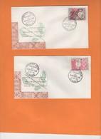 Belles Enveloppes 1er Jour IIe Jeux Pacifique Sud 1966, Parfait état, Décoration Typique De Tapa.Poste Aérienne. Volley. - Covers & Documents
