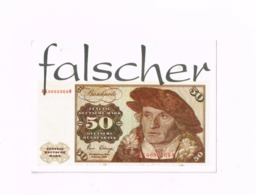 Falscher 50 Er.Expédié De Todtnau à Kontich (Belgique) - Monete (rappresentazioni)