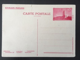 1936 Vimy Entier Postal 3 Canadian Kmémorial - France