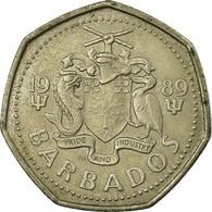 Monnaie, Barbados, Dollar, 1989, TTB, Copper-nickel, KM:14.2 - Barbados (Barbuda)