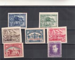 Spagna, Lotto 7 Francobolli Guerra Civile  N° 7 Stamps  Con Linguella O Tracce Di Lunguella, - España