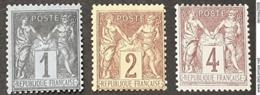 Sage N° 84/85/88 Neuf ** Gomme D'Origine  TB - 1876-1898 Sage (Tipo II)
