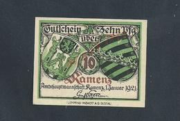 MILITARIA ALLEMAGNE BILLET DE BANQUE DE 1921 : - Banque & Assurance