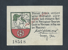 MILITARIA ALLEMAGNE BILLET DE BANQUE DE 1920 : - Banque & Assurance