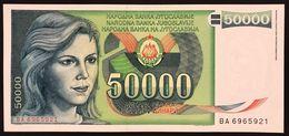 YUGOSLAVIA JUGOSLAVIA  50.000 50000 DINARA 11988  Pick# 96  FDS / UNC Lotto.1200 - Jugoslavia