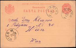 Rumänien Postkarte P 15 Ziffer 10 Von MACINU / MACIN 26.11.1890 Nach WIEN 28.11. - Roemenië