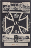 AK Dinant - Eisernes Kreuz Mit 5 Bildern Als Feldpost 13.11.15 Nach Roßlau  - Ohne Zuordnung