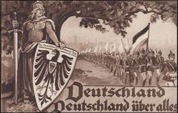 Propaganda-AK Deutschland Deutschland über Alles, Wofa-PK EF BERLIN 2.1.1915 - Parteien & Wahlen
