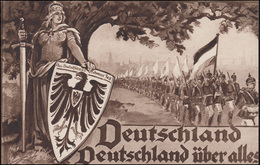 Propaganda-AK Deutschland Deutschland über Alles, Wofa-PK EF BERLIN 2.1.1915 - Partiti Politici & Elezioni
