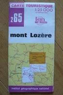 Carte Topographique Touristique IGN - 265 - Mont Lozère - 1:25 000 - Topographical Maps