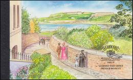 Guernsey-Alderney Markenheftchen 10, Historische Entwicklung Braye Road 2000, ** - Alderney