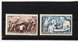 POST347 FRANKREICH 1941 Michl 509/10 ** Postfrisch SIEHE ABBILDUNG - Frankreich