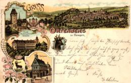 Ortenberg, Wetterau, Farb-Litho, 1897 Nach Bad Vilbel Versandt - Wetterau - Kreis