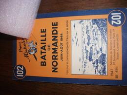 1939/1945 Carte Historique Michelin Bataille De Normandie - Livres, Revues & Catalogues