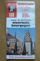 Carte Touristique IGN - 108 - Nivernais Bourgogne - 1:250 000 - Topographical Maps