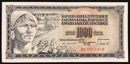 YUGOSLAVIA JUGOSLAVIA  1000 Dinara 1981 Pick#92d  FDS / UNC Lotto.1239 - Jugoslavia