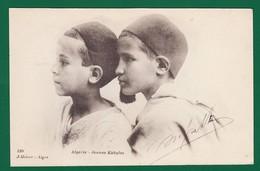 """Jeunes Kabyles """"DOS SIMPLE"""" édit : J Geiser Alger 1903 ( Très Très Bon état ) N481 - Kinderen"""
