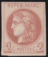 France  .   Yvert   .     40  Report  2?   (2 Scans)  .        (*)          .       Pas De Gomme  .   /   .     No Gum - 1870 Bordeaux Printing