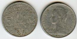 France Reunion 5 Francs 1955 KM 9 - Réunion