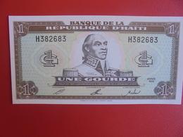 HAITI 1 GOURDE 1992 PEU CIRCULER (B.6) - Haïti