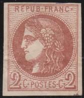 France  .   Yvert   .     40  Report  2?   (2 Scans)  .        (*)          .       Pas De Gomme  .   /   .     No Gum - 1870 Emisión De Bordeaux