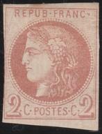 France  .   Yvert   .     40  Report  2?   (2 Scans)  .        (*)          .       Pas De Gomme  .   /   .     No Gum - 1870 Emission De Bordeaux