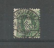 Suisse 1882 77 ° Perforé L B&C Helvetia Debout 50 C Vert - Used Stamps