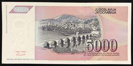 YUGOSLAVIA JUGOSLAVIA 5000 5.000 DINARA 1991  Pick#111   FDS / UNC Lotto.636 - Jugoslavia
