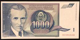 YUGOSLAVIA JUGOSLAVIA 1.000 1000 DINARA 1991  Pick#110  FDS / UNC Lotto.688 - Jugoslavia