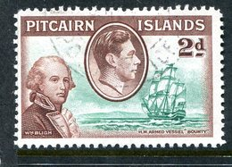 Pitcairn Islands 1940 KGVI Pictorial Definitives - 2d Lt. Bligh And Bounty Used (SG 4) - Stamps