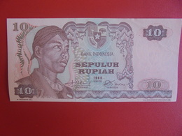 INDONESIE 10 RUPIAH 1968 PEU CIRCULER (B.6) - Indonesia