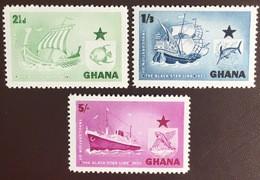 Ghana 1957 Black Star Line Fish Ships MNH - Ghana (1957-...)