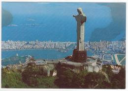 °°° 13760 - BRASIL - RIO DE JANEIRO- VISTA AEREA DO CORCOVADO - 1995 With Stamps °°° - Rio De Janeiro