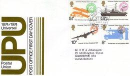 GB  -  Universal Postal Union  -  4v FDC - Premier Jour D'Emission Envelope - Poste